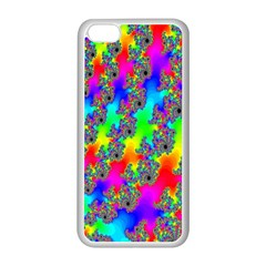 Digital Rainbow Fractal Apple iPhone 5C Seamless Case (White)