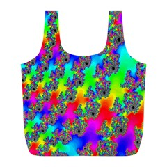 Digital Rainbow Fractal Full Print Recycle Bags (L)