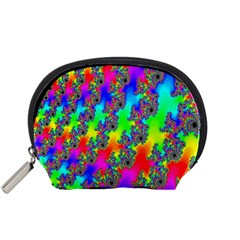 Digital Rainbow Fractal Accessory Pouches (Small)