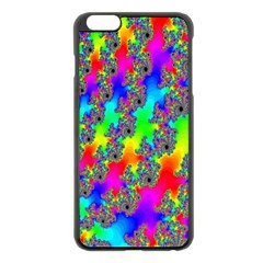 Digital Rainbow Fractal Apple Iphone 6 Plus/6s Plus Black Enamel Case