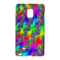 Digital Rainbow Fractal Galaxy Note Edge