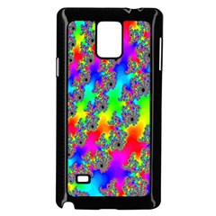 Digital Rainbow Fractal Samsung Galaxy Note 4 Case (Black)