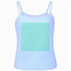 Pale Green Summermint Pastel Green Mint Baby Blue Spaghetti Tank