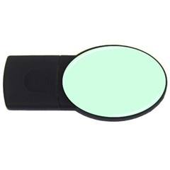 Pale Green Summermint Pastel Green Mint USB Flash Drive Oval (4 GB)