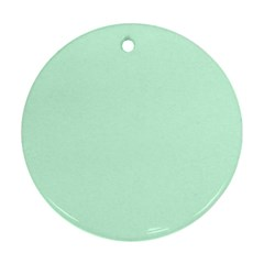 Pale Green Summermint Pastel Green Mint Round Ornament (Two Sides)