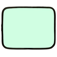 Pale Green Summermint Pastel Green Mint Netbook Case (Large)