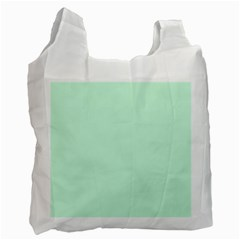 Pale Green Summermint Pastel Green Mint Recycle Bag (Two Side)