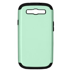 Pale Green Summermint Pastel Green Mint Samsung Galaxy S III Hardshell Case (PC+Silicone)