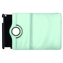 Pale Green Summermint Pastel Green Mint Apple iPad 3/4 Flip 360 Case