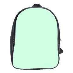 Pale Green Summermint Pastel Green Mint School Bags (XL)