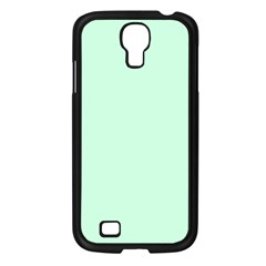 Pale Green Summermint Pastel Green Mint Samsung Galaxy S4 I9500/ I9505 Case (Black)