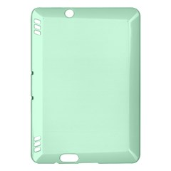 Pale Green Summermint Pastel Green Mint Kindle Fire HDX Hardshell Case