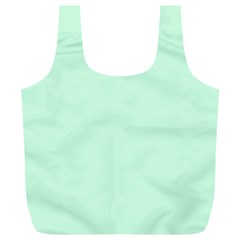 Pale Green Summermint Pastel Green Mint Full Print Recycle Bags (L)