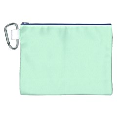 Pale Green Summermint Pastel Green Mint Canvas Cosmetic Bag (XXL)