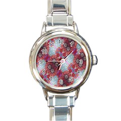 Floral Flower Wallpaper Created From Coloring Book Colorful Background Round Italian Charm Watch