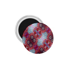 Floral Flower Wallpaper Created From Coloring Book Colorful Background 1.75  Magnets