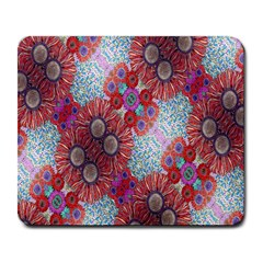 Floral Flower Wallpaper Created From Coloring Book Colorful Background Large Mousepads