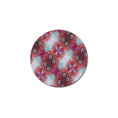 Floral Flower Wallpaper Created From Coloring Book Colorful Background Golf Ball Marker