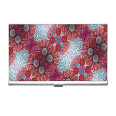 Floral Flower Wallpaper Created From Coloring Book Colorful Background Business Card Holders