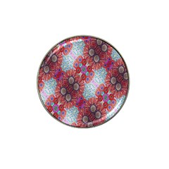 Floral Flower Wallpaper Created From Coloring Book Colorful Background Hat Clip Ball Marker (4 pack)