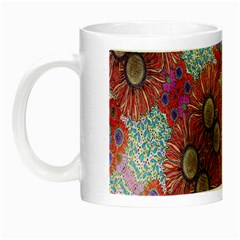 Floral Flower Wallpaper Created From Coloring Book Colorful Background Night Luminous Mugs