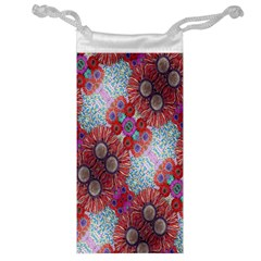 Floral Flower Wallpaper Created From Coloring Book Colorful Background Jewelry Bag