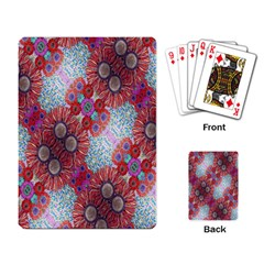 Floral Flower Wallpaper Created From Coloring Book Colorful Background Playing Card