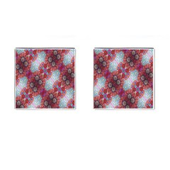 Floral Flower Wallpaper Created From Coloring Book Colorful Background Cufflinks (Square)