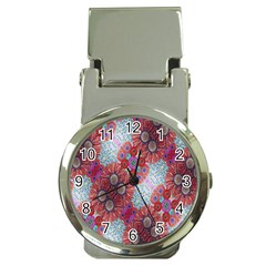 Floral Flower Wallpaper Created From Coloring Book Colorful Background Money Clip Watches