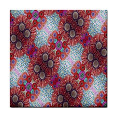 Floral Flower Wallpaper Created From Coloring Book Colorful Background Face Towel
