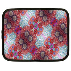 Floral Flower Wallpaper Created From Coloring Book Colorful Background Netbook Case (xxl)