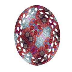Floral Flower Wallpaper Created From Coloring Book Colorful Background Oval Filigree Ornament (Two Sides)
