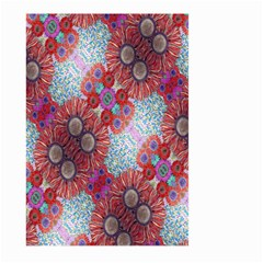 Floral Flower Wallpaper Created From Coloring Book Colorful Background Large Garden Flag (Two Sides)