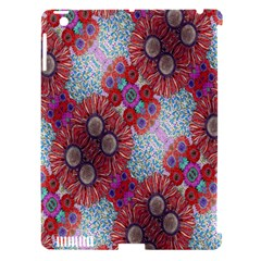 Floral Flower Wallpaper Created From Coloring Book Colorful Background Apple iPad 3/4 Hardshell Case (Compatible with Smart Cover)