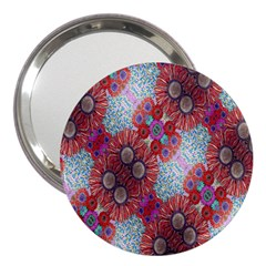 Floral Flower Wallpaper Created From Coloring Book Colorful Background 3  Handbag Mirrors
