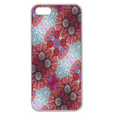Floral Flower Wallpaper Created From Coloring Book Colorful Background Apple Seamless iPhone 5 Case (Clear)