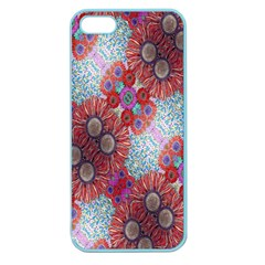Floral Flower Wallpaper Created From Coloring Book Colorful Background Apple Seamless iPhone 5 Case (Color)