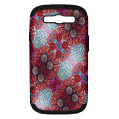 Floral Flower Wallpaper Created From Coloring Book Colorful Background Samsung Galaxy S Iii Hardshell Case (pc+silicone)