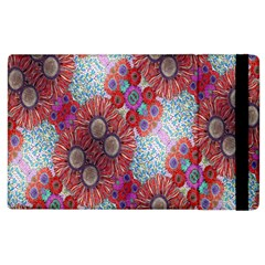 Floral Flower Wallpaper Created From Coloring Book Colorful Background Apple iPad 2 Flip Case