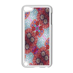 Floral Flower Wallpaper Created From Coloring Book Colorful Background Apple iPod Touch 5 Case (White)
