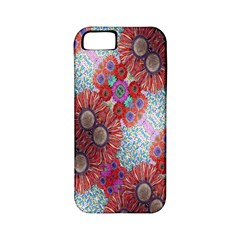 Floral Flower Wallpaper Created From Coloring Book Colorful Background Apple iPhone 5 Classic Hardshell Case (PC+Silicone)
