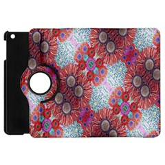 Floral Flower Wallpaper Created From Coloring Book Colorful Background Apple iPad Mini Flip 360 Case