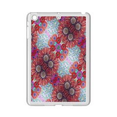 Floral Flower Wallpaper Created From Coloring Book Colorful Background iPad Mini 2 Enamel Coated Cases