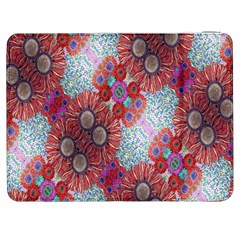 Floral Flower Wallpaper Created From Coloring Book Colorful Background Samsung Galaxy Tab 7  P1000 Flip Case