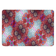 Floral Flower Wallpaper Created From Coloring Book Colorful Background Samsung Galaxy Tab 8.9  P7300 Flip Case