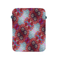 Floral Flower Wallpaper Created From Coloring Book Colorful Background Apple iPad 2/3/4 Protective Soft Cases