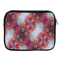 Floral Flower Wallpaper Created From Coloring Book Colorful Background Apple iPad 2/3/4 Zipper Cases