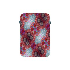 Floral Flower Wallpaper Created From Coloring Book Colorful Background Apple iPad Mini Protective Soft Cases