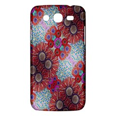 Floral Flower Wallpaper Created From Coloring Book Colorful Background Samsung Galaxy Mega 5.8 I9152 Hardshell Case