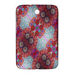 Floral Flower Wallpaper Created From Coloring Book Colorful Background Samsung Galaxy Note 8.0 N5100 Hardshell Case